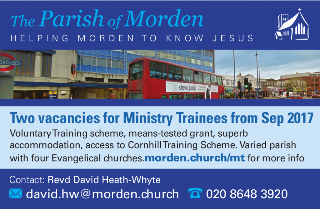 Advert for Ministry Trainees